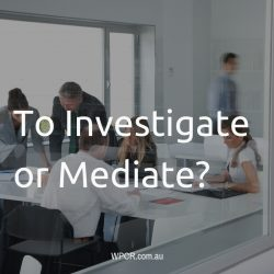To investigate or mediate?